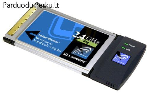 wifi wireless PCMCIA CardBus bevielio tinklo adapteris Links