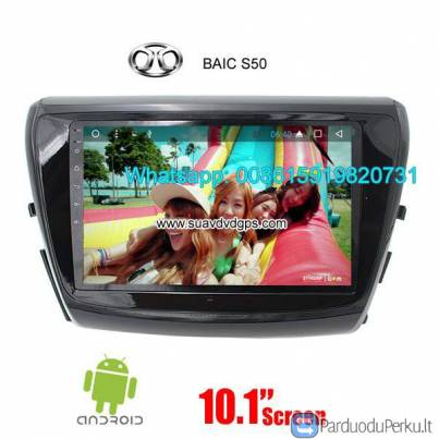 BAIC S50 Car audio radio update android GPS navigation camera