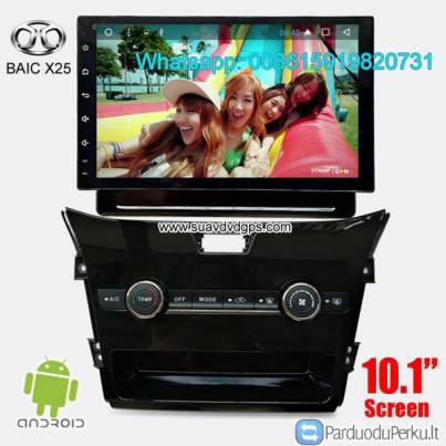 BAIC X25 Car audio radio update android GPS navigation camera