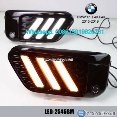 BMW X1 F48 F49 LED cree DRL day time running lights driving daylight