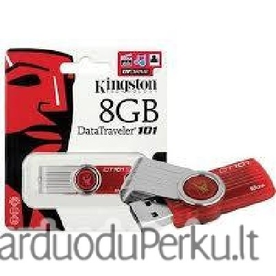 Kingston Digital 8GB DataTraveler 101 G2 USB 2.0 Drive - Red