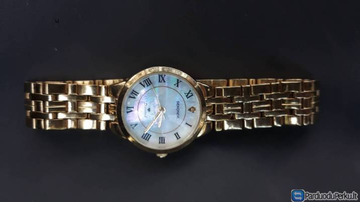 Sekonda 4311 Ladies Gold Plated Diamond Set Mother of Pearl Dial Watch