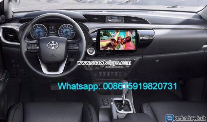 toyota hilux 2017 radio car android wifi gps navigation camera parduoduperku. Black Bedroom Furniture Sets. Home Design Ideas
