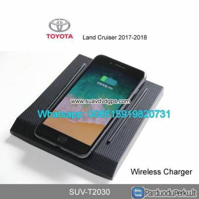 Toyota Land Cruiser Car QI wireless charger quick charge fast wireless charging