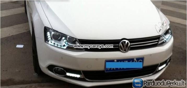 VW Jetta Sagitar 12-13 DRL LED dienos žibintai Aut - ParduoduPerku